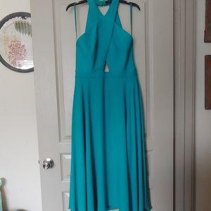 BCBGMAXAZRIA Ann Marie Cutout Asymmetrical Dress